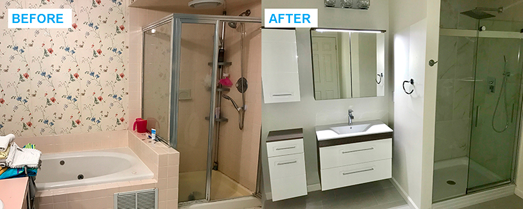 bathroom renovation in Middlesex